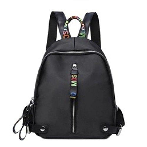 Rucksack Frauen Oxford Stoff Rucksack Mode Tasche Tasche,OneSize-Black
