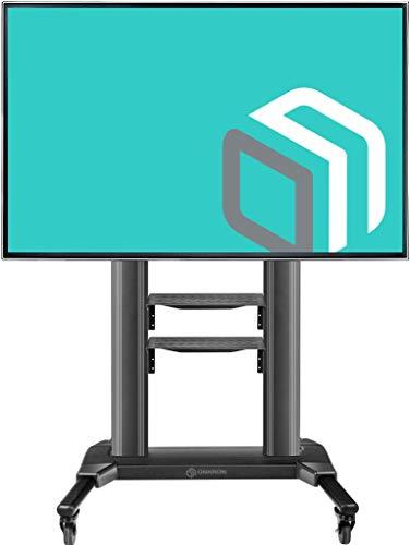 ONKRON Carrello TV da pavimento per shermi da 42' a 80' LCD QLED e TV curvi Supporto TV Universale con VESA max. 700x400mm