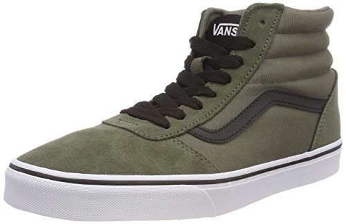Vans Ward Hi Suede/Canvas, Sneaker a Collo Alto Uomo, Verde ((Suede/Canvas) Dusty Olive/Black U19), 39 EU