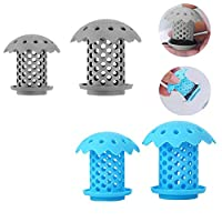 JIZUUU 4 Pcs Shower Plug Filter Durable Silicone Bathtub Drain Filter Hair Catcher Prevents Hair from Clogging Drains