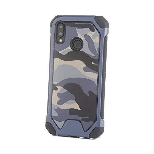 Yutwo Huawei P20 Lite Hülle, Military Case Shockproof Hybrid Rugged Outdoor Handy Case [Tarnung Design] Camouflage Handyhülle TPU+PC Bumper Cover Schutzhülle für Huawei P Smart - A#Blau Handy-camouflage-design