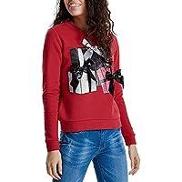 HWTOP Sweatshirts Pullover Damen Oberteil Hemd T-Shirt Locker Sport Freizeit Premium Bauchfrei Stickerei Kleidung Tops Bluse Shirt Langarmshirt Bluse Frauen Pulli Tops