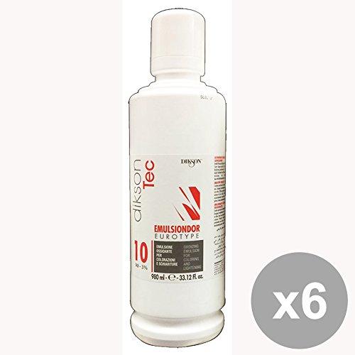 Set 6 DIKSON Acqua Emulsione EMULSINDOR 10 Volumi 980 Ml. Prodotti per capelli