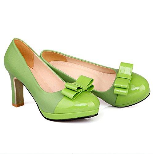 Donne Di Verde Moda Taoffen Indossando Scarpe Di Bowknot qwXZntz