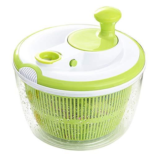 Tebery Spinner de ensalada grande BPA Free-Manual Secador de lechuga y lavadora de vegetales con diseño de secado rápido, lechuga escurridora y vegetales con facilidad, incluido el tazón de plástico t