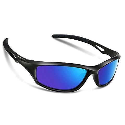 Sport Lunettes de soleil, Chereeki polarisées Lunettes de sport avec protection UV 400et cadre TR90incassable, pour homme femme extérieur Sports Pêche Ski Conduite Golf Course à Pied Cyclisme Camping
