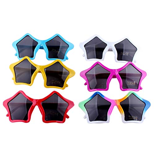 (BESTOYARD 6pcs Stern Sonnenbrille Kinder Kostüm Sonnenbrille Spaßbrille Party Favors)