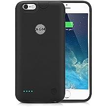 "Funda Batería iphone 6 / iphone 6s, AGM Funda protectora cargador ultra fina 2500mAh carcasa cargador externa recargable para iPhone 6 / 6s 4.7"", color negro"