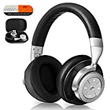 KAMTRON Bluetooth Noise Cancelling Headphones Wireless - Overear Headset with HiFi Stereo Sound