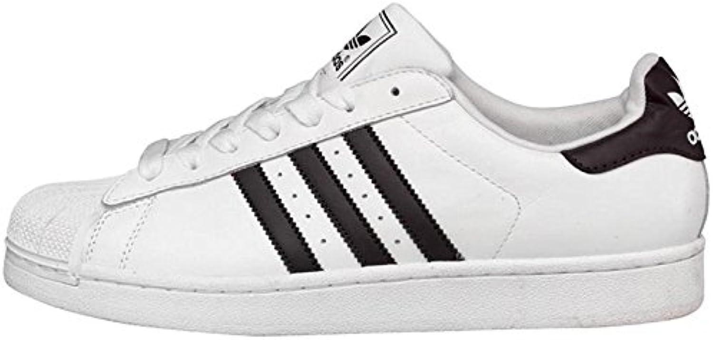 adidas originaux superstar messieurs 2 formateurs blancs / noirs messieurs superstar (10 royaume - uni 10 eur 44,3) 543a0f