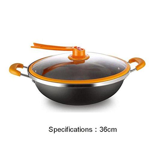 No humo no-Stick sartén doble oreja wok , 1 , 34