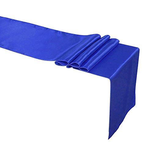aspire Chemin de Table en Satin pour Banquet de Mariage 30,5 x 27,9 cm, Bleu Roi, Taille Unique