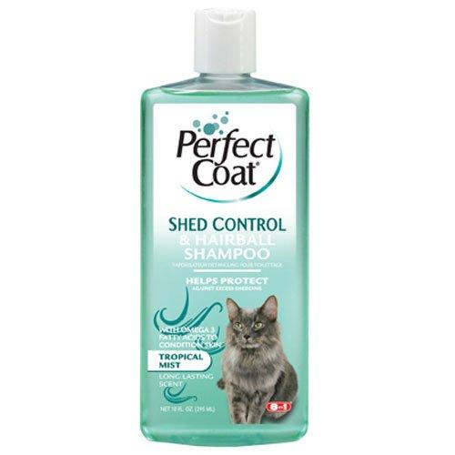 8in 1Pet Products ceom637Perfect Coat Schuppen und Hairball Control Katze Shampoo, Unzen (Unzen Cleanser 1)