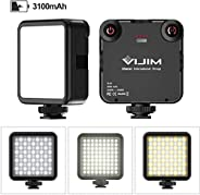 VL81 On Camera LED Light Bi Color 3200-5600K Color Temperature Hot shoe +3 to mount and add