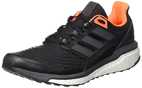 Adidas Energy Boost M, Scarpe Running Uomo, Nero (Core Utility Black/Solar Orange), 43 1/3 EU