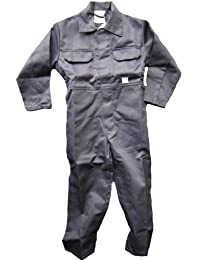 WWK Kids Childrens Boilersuit Overall Coverall Girls Boys 4 Colours Ages 1 to 13