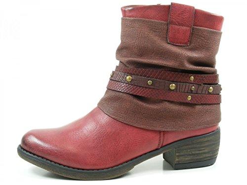 Rieker 93182-35 bottes & bottines femme Rouge