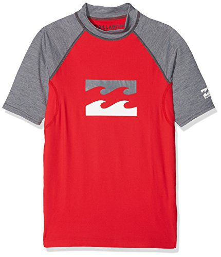 BILLABONG Team Wave SS Lycra Kids Damen M rot -