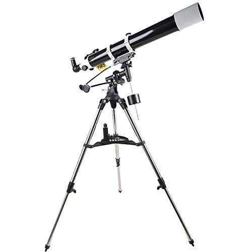 Astronomische Fernrohr Astronomisches Teleskop Hohe Vergrößerung Nachtsicht Nicht Infrarot-Stickstoff gefüllte Wasserdicht Professioneller Stargazing Teleskope ( Farbe : Black , Size : 80x35x30cm ) -