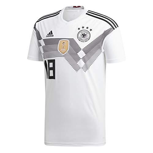 Adidas DFB Home Camiseta Alemania WM 2018Rusia Color Blanco, tamaño: S, número y Nombre: 18–kimmich