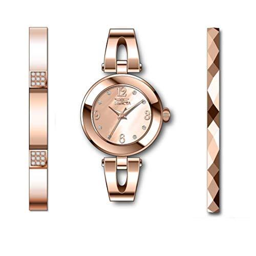Invicta Angel Reloj de Mujer Cuarzo analógico Correa y Caja de Acero 29334