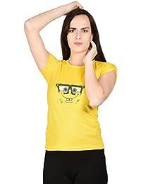 LetsFlaunt Sponge Bob T-shirt Yellow Girls Dry-Fit Nw