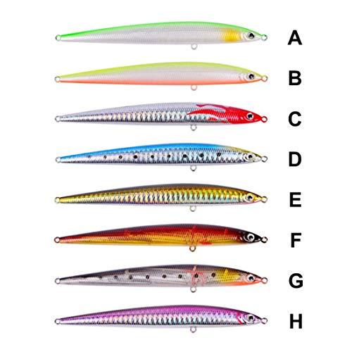 Felicigg 8 pezzi 14cm 29g esche da pesca esche dure di plastica kit esche da pesca per trota bass acqua salata (size : 8 piece)