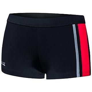 Aqua Speed® AMOS Herren Badehose | Schwimmhose | S-XXXL | Modern | Malaga Gewebe UV-Schutz | Chlor resistent | Kordelzug, Größe:XL, Farbe:13 / Black red Gray