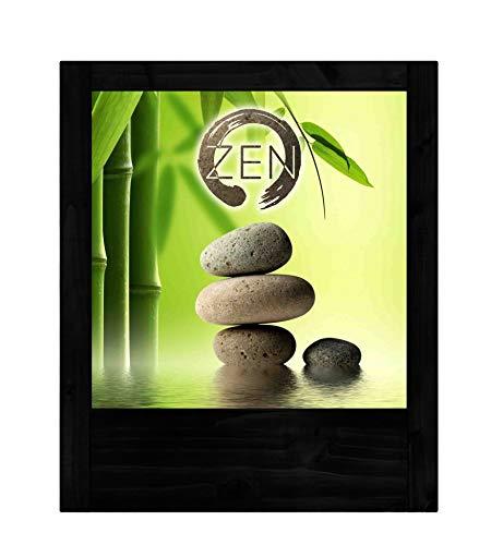 Lámpara negra de bambú Zen
