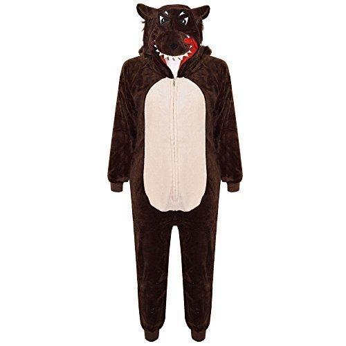 a2z4kids Jungen Strampelanzug Braun Marron - Wolf (Meine Monster High Kostüme)