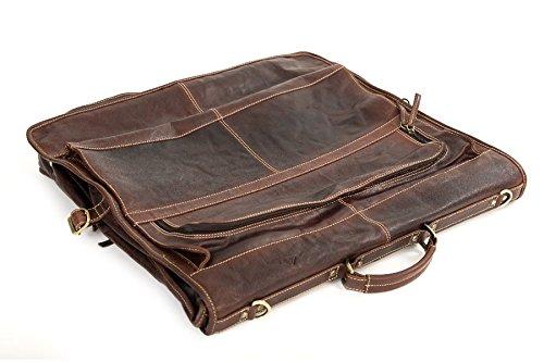 "Portatraje De Viaje ""AMMERSEE""   Cuero De Búfalo   Transportar Hombre Mujer Marrón   By Alpenleder (Brandy)"