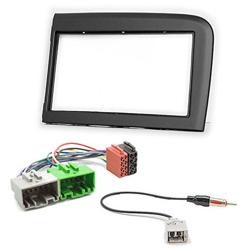 CARAV 11-586-38-5 Doppel DIN Autoradio Radioblende Set DVD Dash Installation Kit für S80 1999-2005 mit ISO Adapter und Antennenadpter Iso Dash