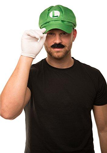 m Komplettset mit weißen Handschuhen und Klebe-Bärten für Erwachsene und Kinder Karneval Fasching Verkleidung Kostüm Mützen Hut Cap Herren Damen Kappe (Hüte Mit Bärten)