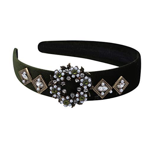 hrfarbig Kopfband Haarspange, Frauen Crystal Headband Wide Stoff Haarband Kopf Wickeln Haarband Zubehör ()