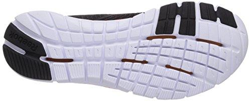 Reebok Zquick Dash, Chaussures de course garçon Multicolore - Mehrfarbig (Black/Energy Blue/Vivid Tangerine/White)
