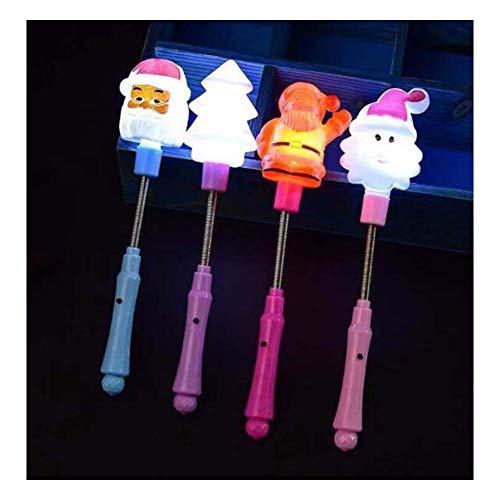 (Black Temptation Weihnachten-Serie LED Light Up Zauberstab Fairy Glow Sticks für Kinder Spielzeug (4 Stück))