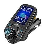 Tianya Bluetooth Reproductor de MP3,Transmisor FM Manos libres Cargador USB,Kit de coche estéreo