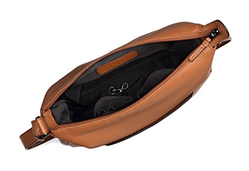 BREE Faro 3   große Schultertragetasche   Leder Cross Shoulder Bag   brick red saddle brown