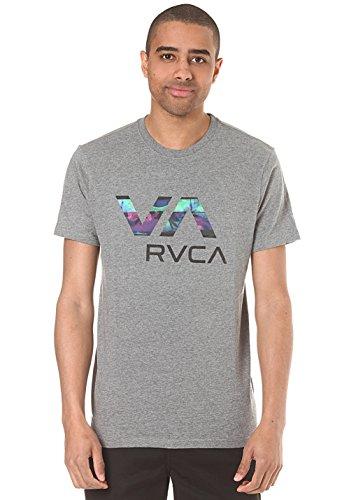 rvca-herren-t-shirt-grau-l