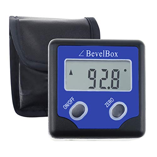 Digitale Bevel Box Gauge Winkel Winkelmesser IP54 Wasserdicht rate mit 3 integrierten Magneten
