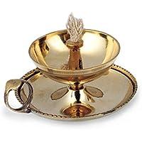 Ghee-Lampe Ø 10 cm, 5,5 cm hoch aus Messing poliert, Messingschale mit Fingergriff und Docht, Diya Butterlampe... preisvergleich bei billige-tabletten.eu