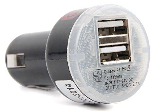 Für Ihre AUKEY EP-B4-G Bluetooth, EP-B4-S | AUVI QY19 Bluetooth Kopfhörer: Zweifaches | Doppeltes Standard-USB Ladegerät für den Zigarettenanzünder im Auto | PKW | LKW, perfekt für unterwegs