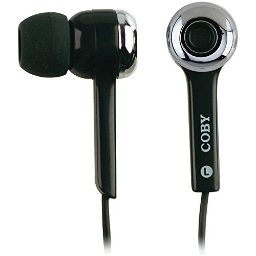 Coby Amazon–Coby cv-e31cuffie–Black MP3super bass auricolari stereo digitale nero