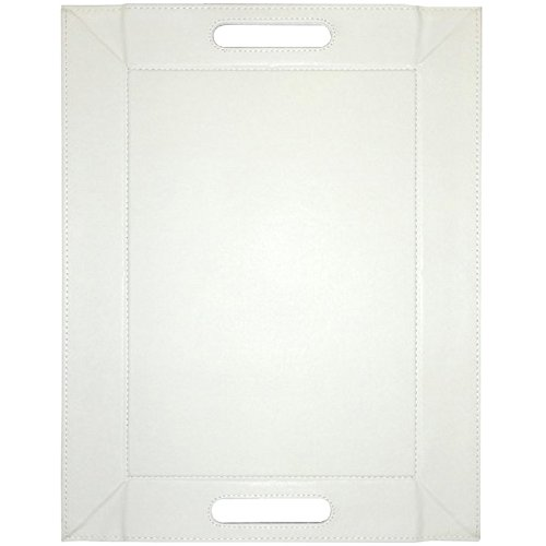 FreeForm, Plateau réversible rectangulaire, Taupe et Blanc, S, 55 x 41 cm