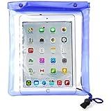 PrimeCases® - Housse Etui Transparent Protection Etanche Compatible Apple iPad 4 Avec Cordon Tour De Cou Ajustable