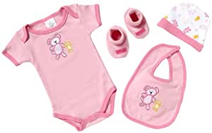 Playshoes Unisex Baby Layette Starter Set 4 Pieces Rose