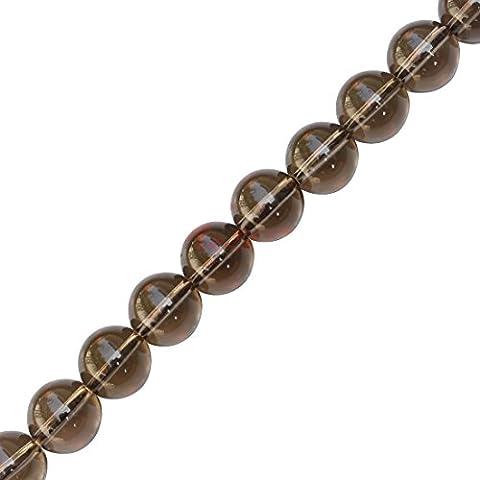 Be You scozzese grigio marrone naturale pietra preziosa quarzo fumè rondelle pianura forma perle 13 pollici 3 linee slaccia il filo