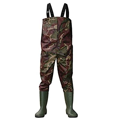 Dirt boot camo nylon chest waders 100 waterproof carp for Fishing waders reviews
