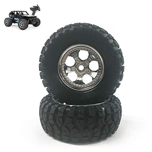 Rc pneumatici, 1:12 auto Telecomando Off-Road Tyre, Arrampicata gomma insieme ruota, antiscivolo usura del battistrada, 96X38mm 12mm esagonale Connessione, adatto a Outdoor All Terrain, 2 pezz