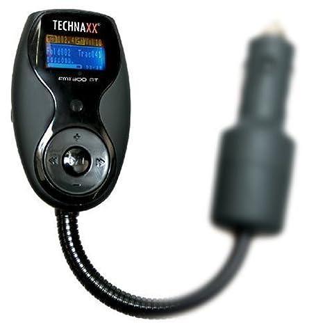 Technaxx FMT300BT Transmetteur Bluetooth et Kit main libres mp3 Carte SD USB (lecteur LCD, correspondance pour i pod et i phone)